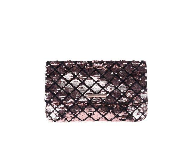 c98f67a73742 Čierno-ružová listová kabelka s flitrami Dorothy Perkins