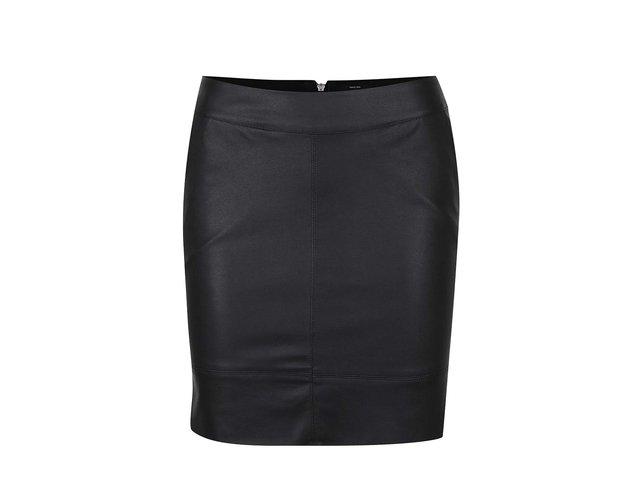 0f45b1d4463d Čierna koženková sukňa s vreckami ONLY Base