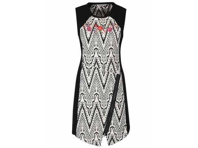 Čierno-biele vzorované šaty Desigual Oregon   9fbb52da5e5