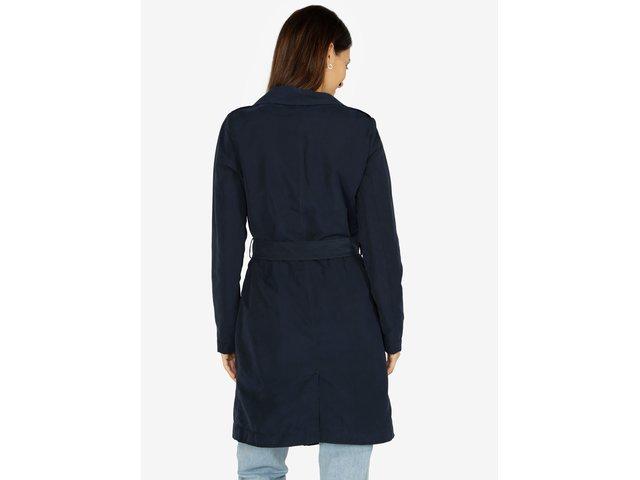 Tmavě modrý kabát VERO MODA Elina