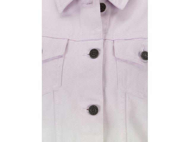 Bílo-fialová krátká džínová bunda Noisy May Mino