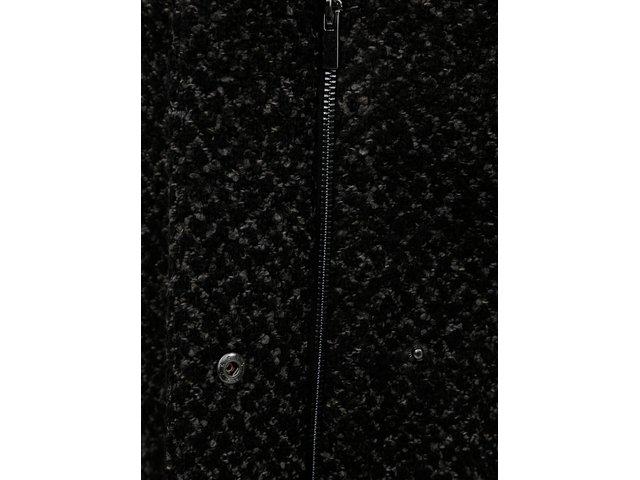 Černý žíhaný kabát s příměsí vlny VILA  018646f0bf