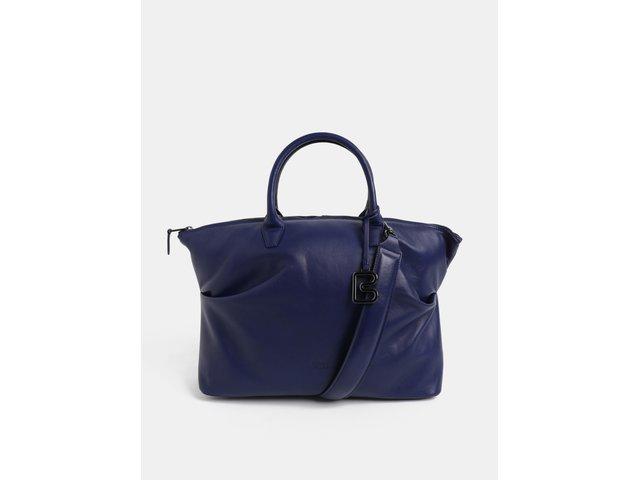 d143b4990d Modrá velká kožená kabelka do ruky BREE Stockholm 37