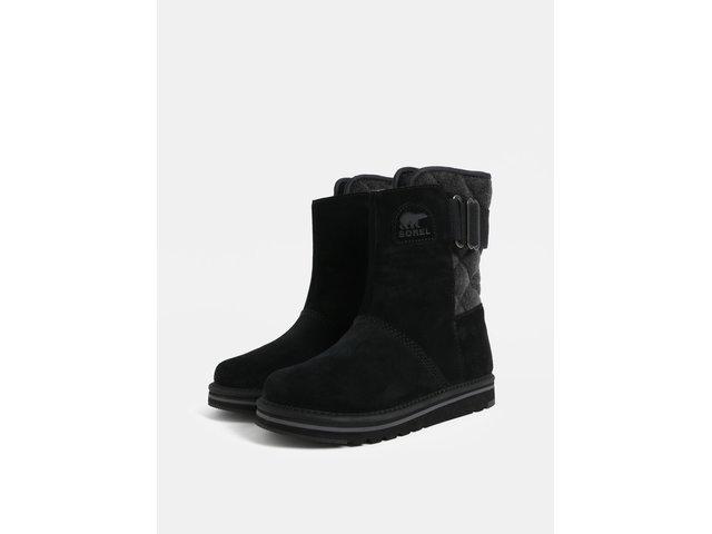 aef7e1a4398 Černé dámské semišové zimní boty SOREL Newbie