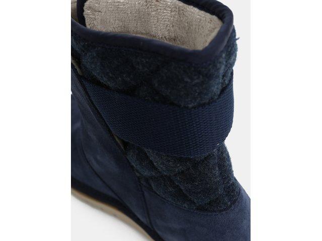 Tmavě modré dámské semišové zimní boty SOREL Newbie  6b36008e71