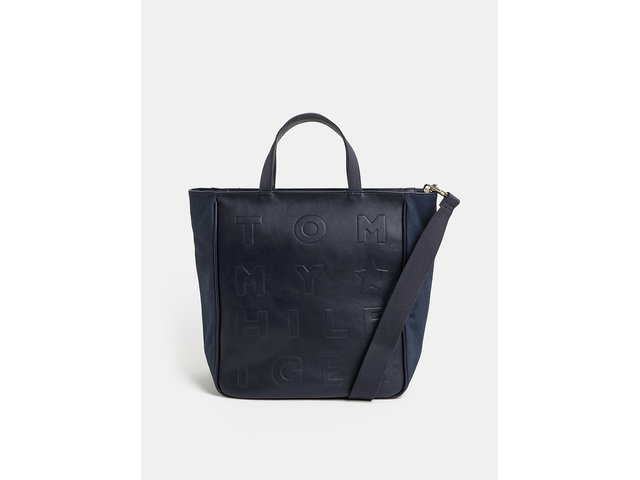 0ddb2a7a1a Tmavě modrá vzorovaná velká kabelka Tommy Hilfiger