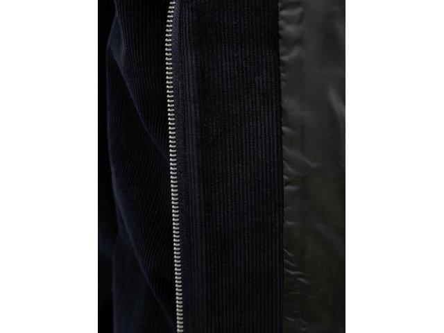 Tmavě modrá manšestrová lehká bunda Burton Menswear London Cord Harrington