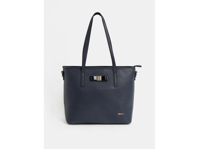 Tmavě modrá kabelka s detaily ve zlaté barvě Hampton 6f23662f308