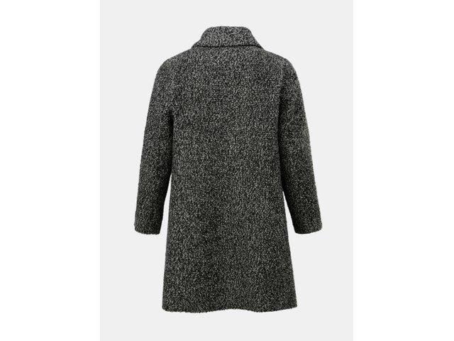 Šedý žíhaný vlněný kabát Zizzi