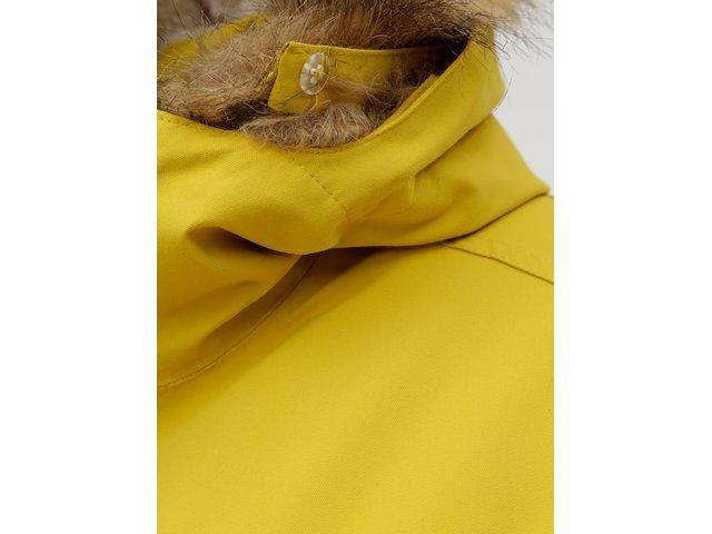 Žlutá dámská zimní parka s vnitřním umělým kožíškem Meatfly Rainy