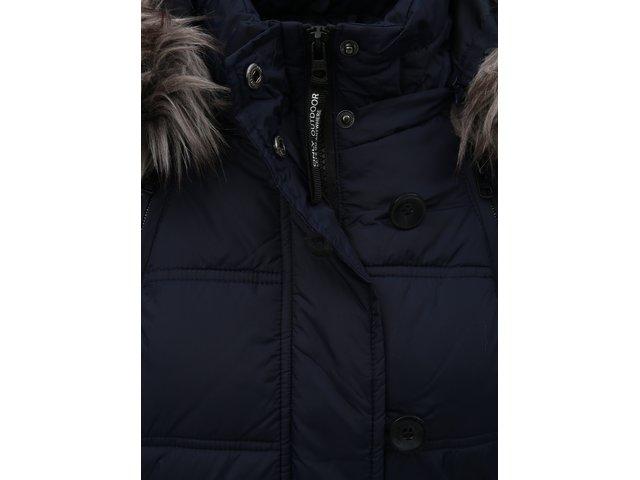Tmavě modrý prošívaný zimní kabát s odnímatelnou kapucí ONLY Newottowa 6f4088a9cf