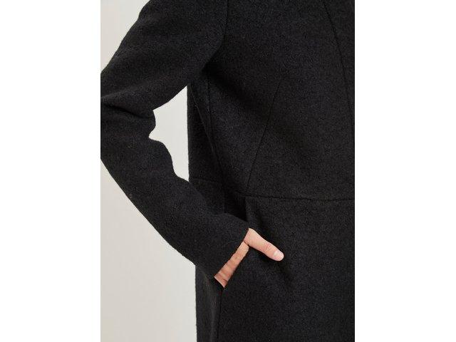 Černý vlněný kabát VILA Lanis