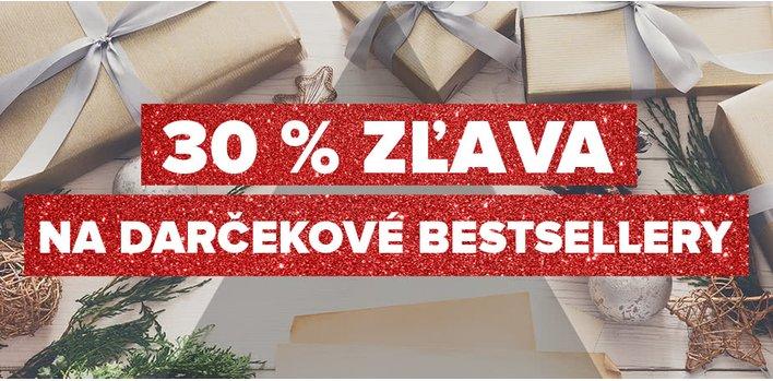 30 % zľava na darčekové bestsellery