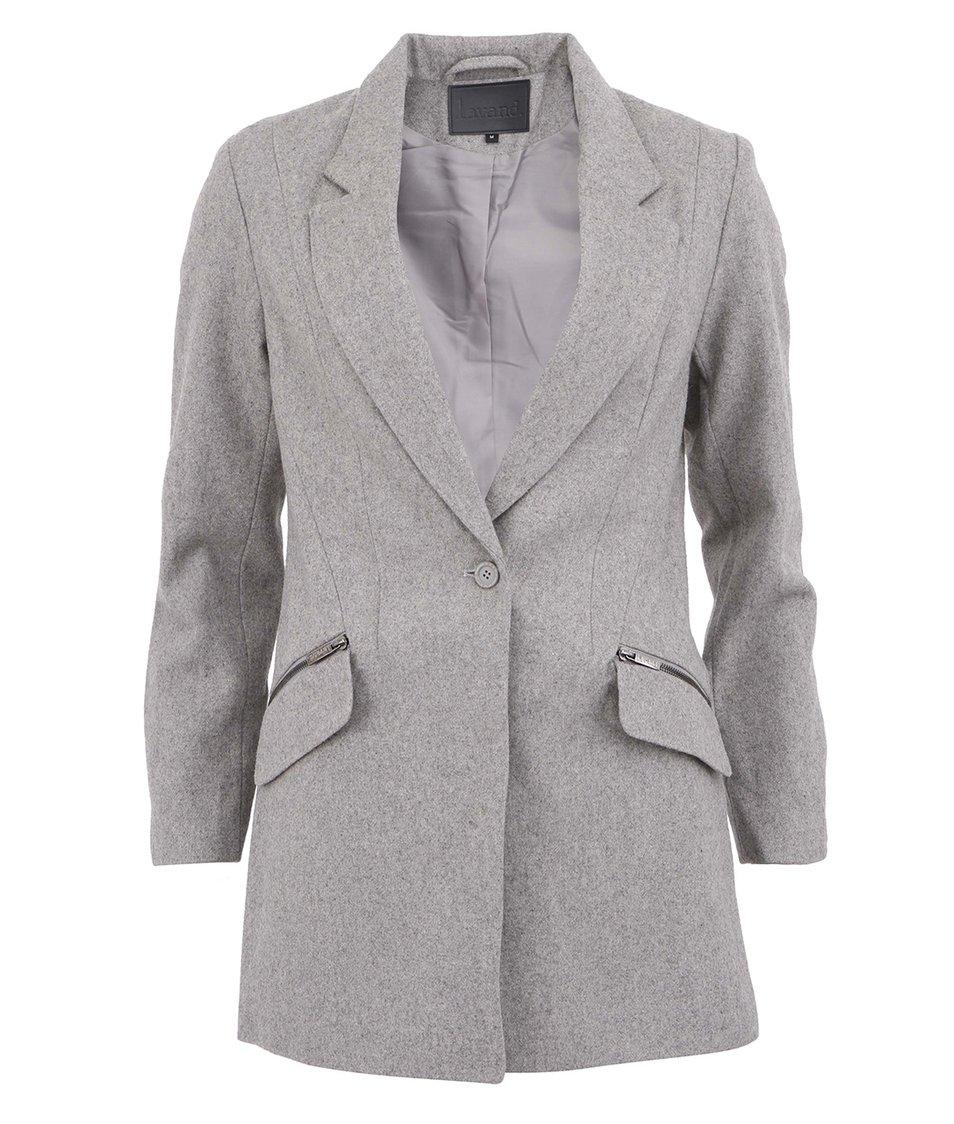 Šedý kabát Lavand