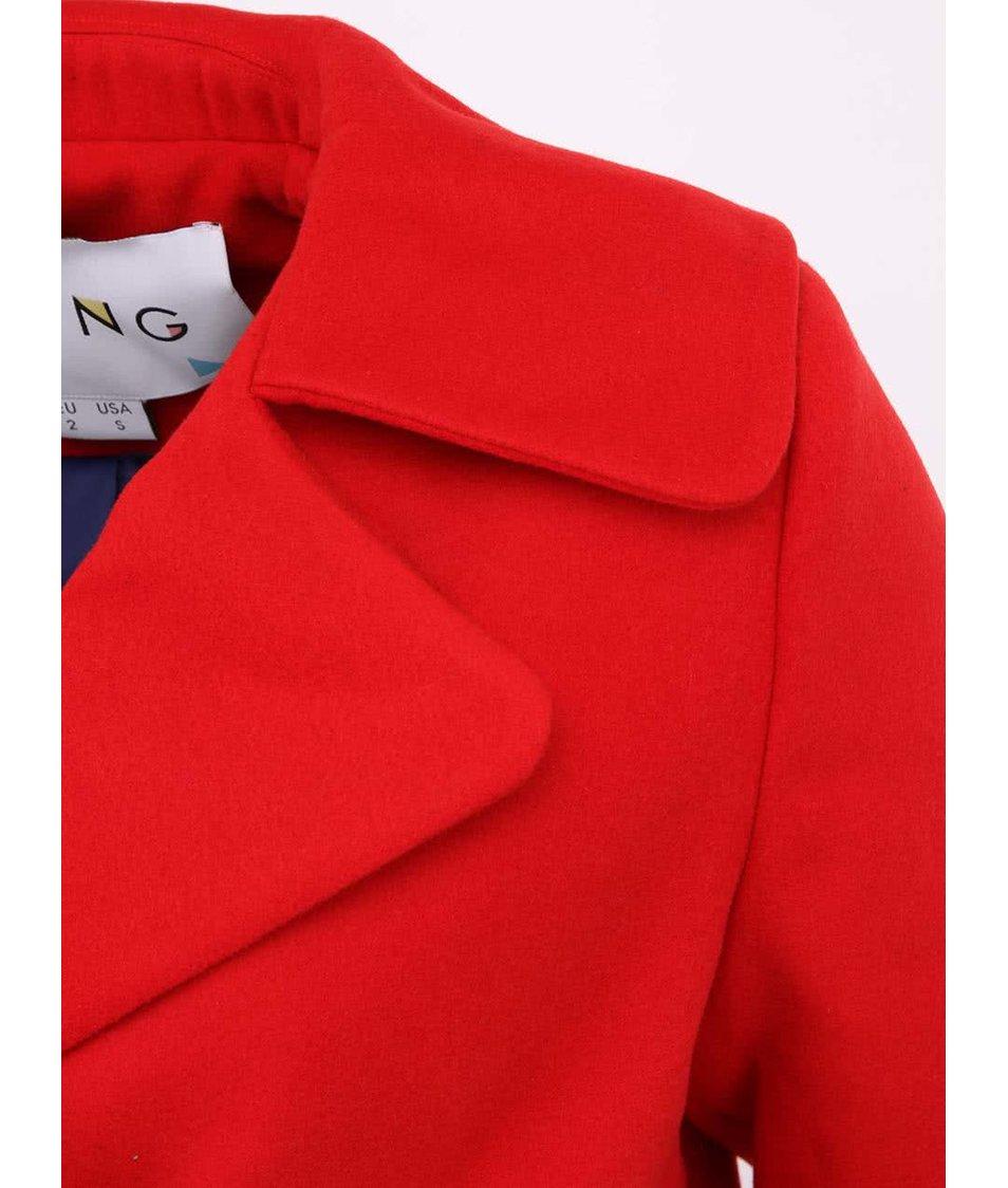 Červený dámský elegantní kabát Kling Friedrich
