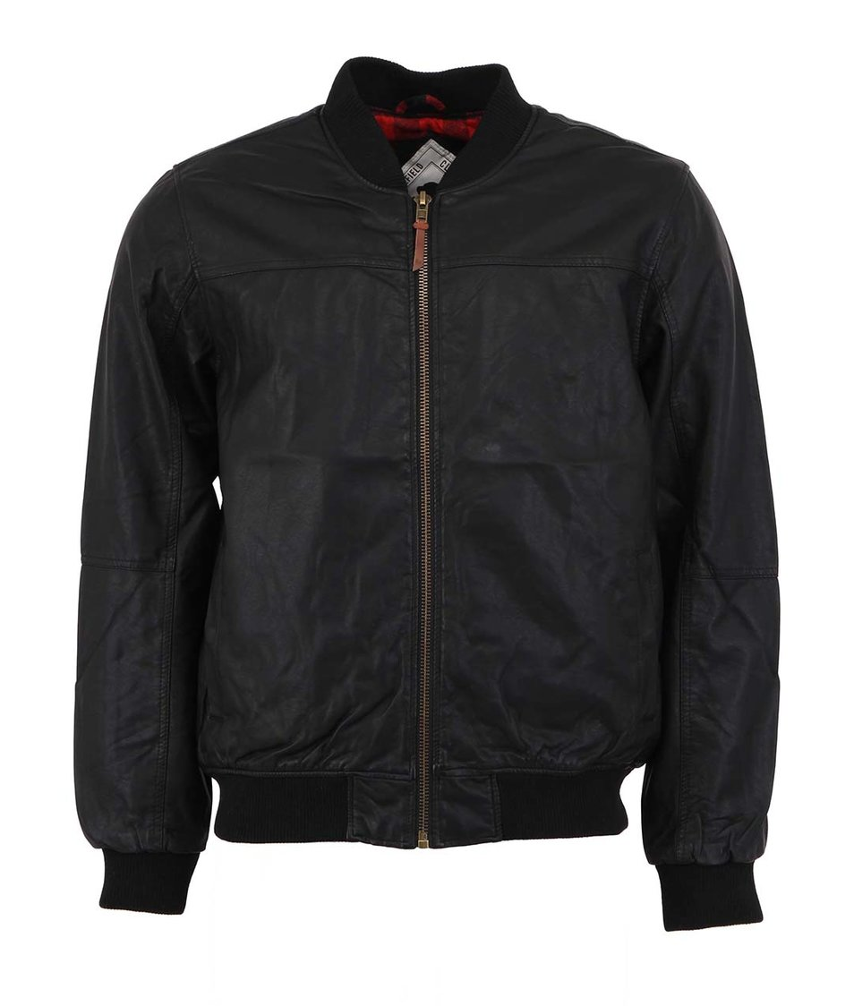 Černá pánská koženková bunda Bellfield Rex