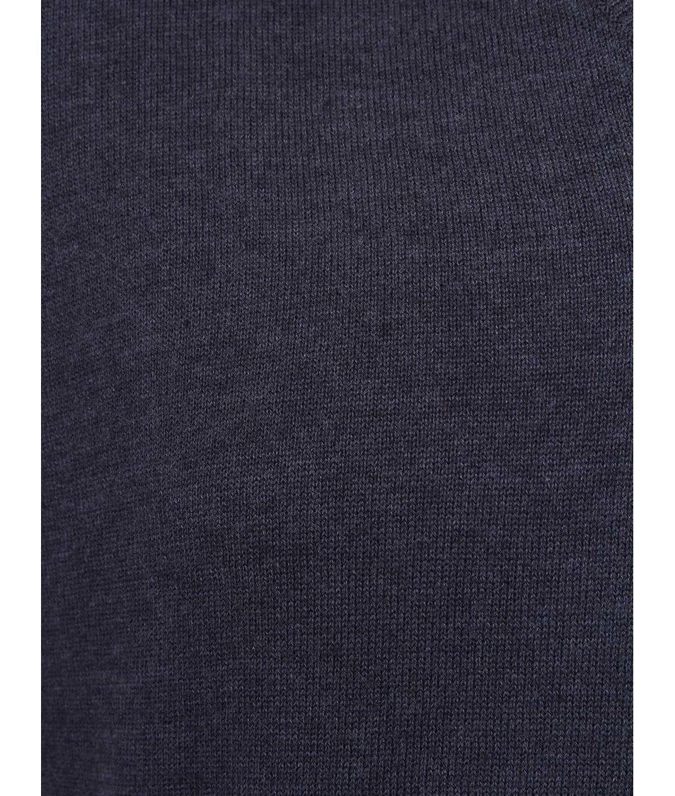 Tmavě modrý svetr s véčkovým výstřihem !Solid Gomer
