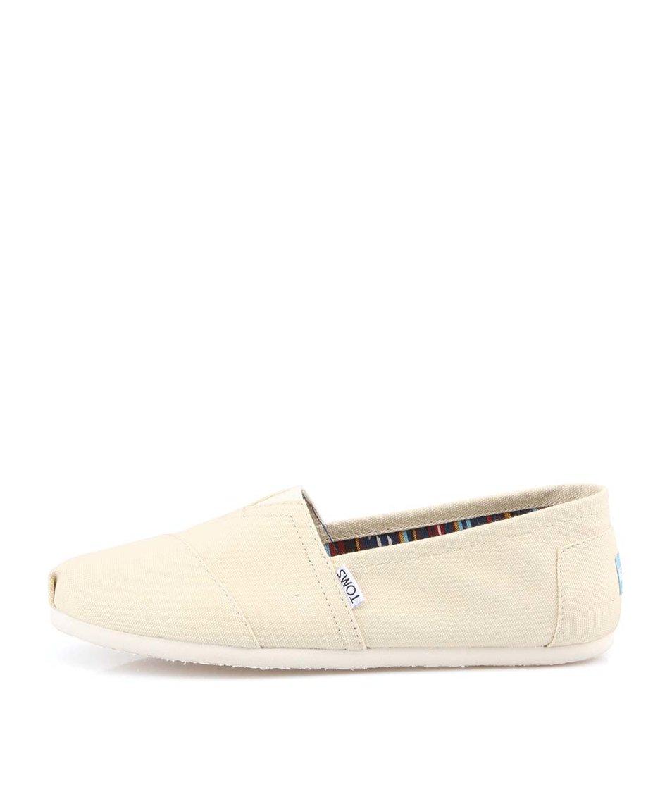 Béžové pánské loafers TOMS Canvas Classic