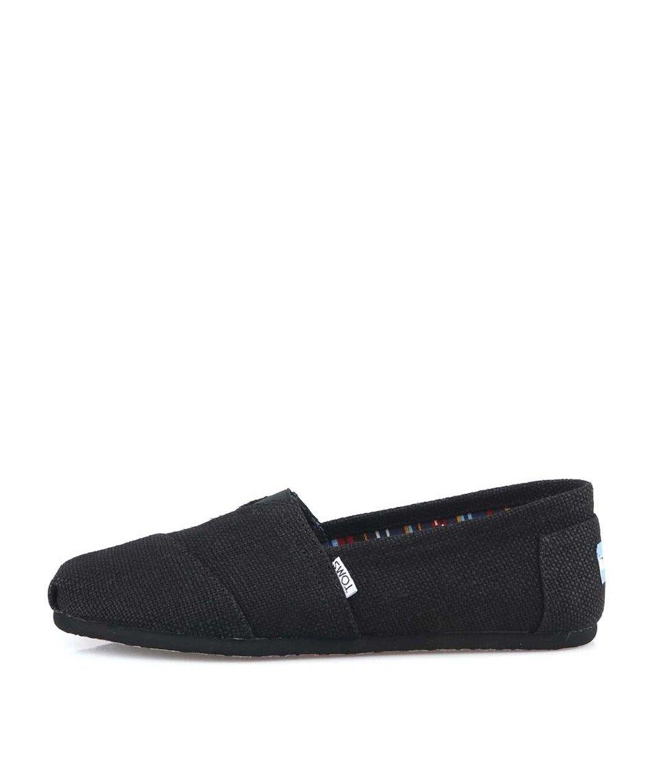 Černé pánské loafers Toms Burlap