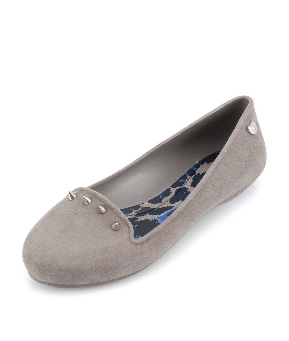 Šedé loafers s ostny Mel Glow