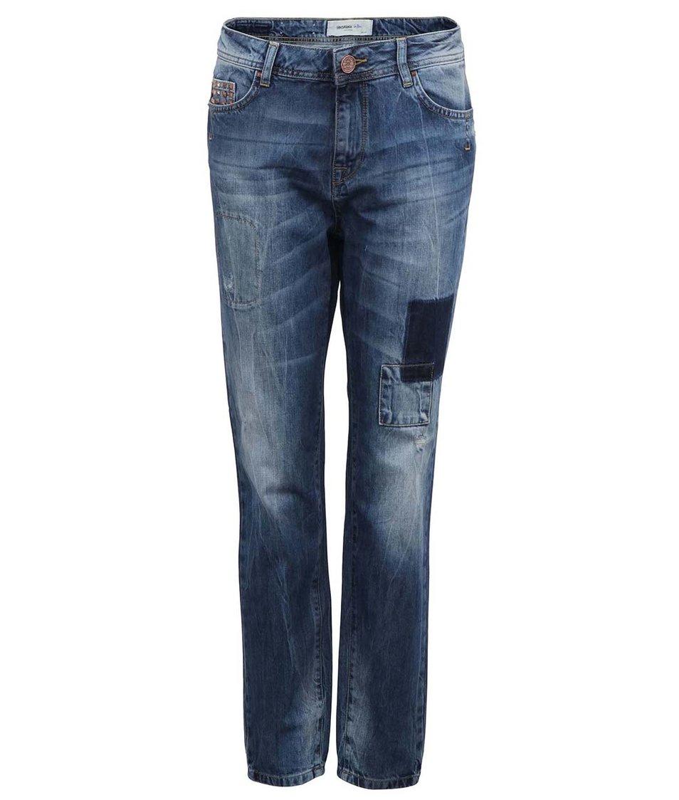 Modré džíny se záplatami Vero Moda Nanna