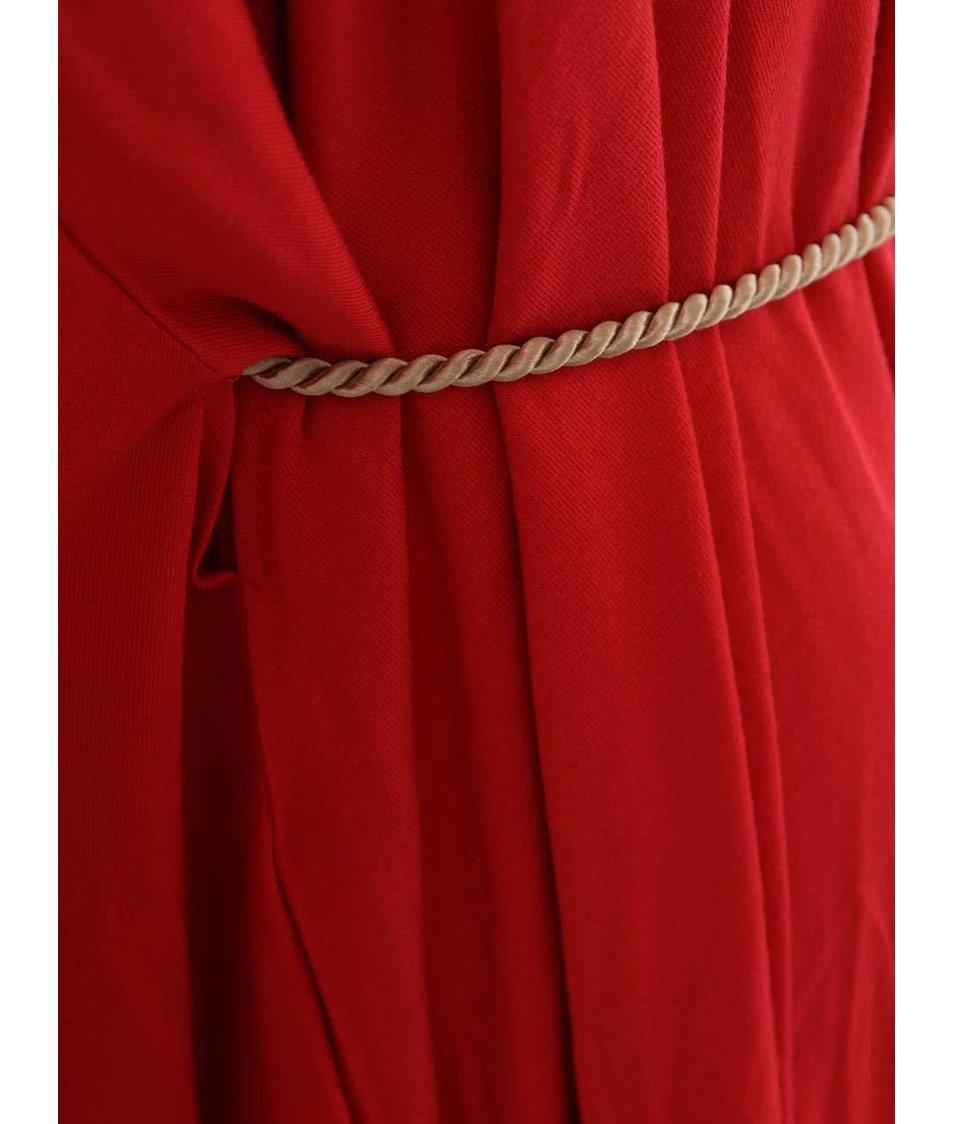 """""""Dobré"""" červené šaty se žlutou šňůrkou City Souls Odivi"""