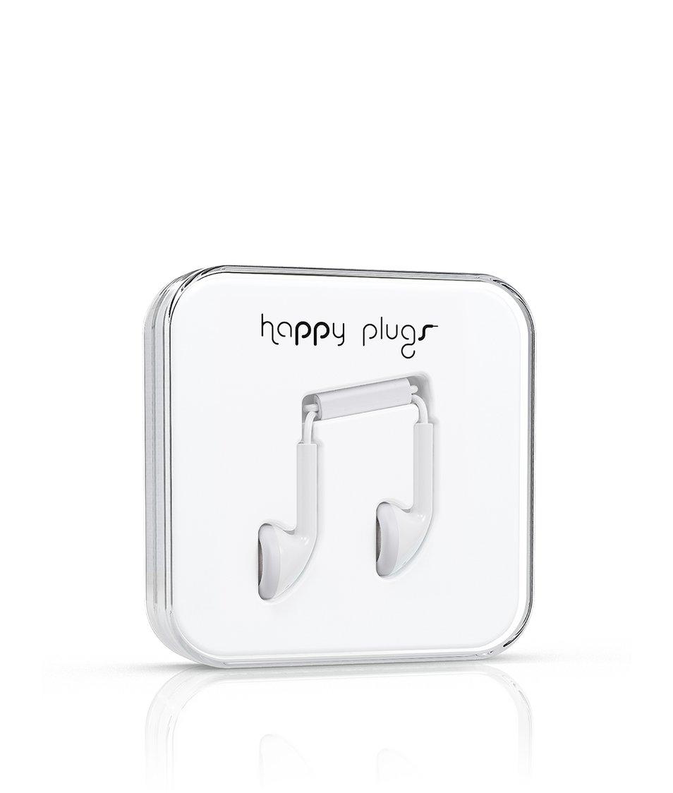 Bílá Earbud sluchátka Happy Plugs