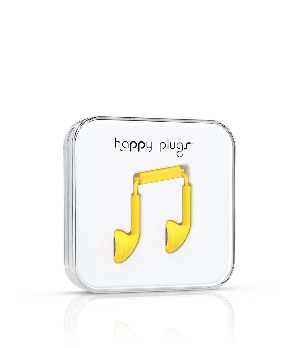 Žlutá Earbud sluchátka Happy Plugs