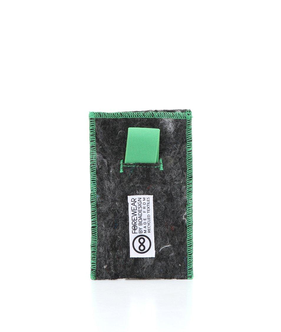 """Dobrý"" obal na mobil FOREWEAR se zelenou gumou"