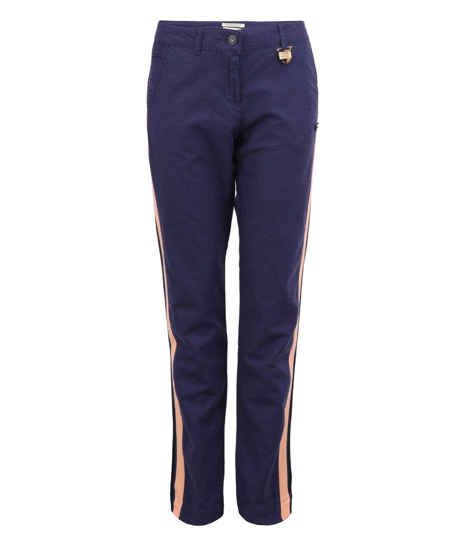 Dámské modré chino kalhoty Maison Scotch s pruhem