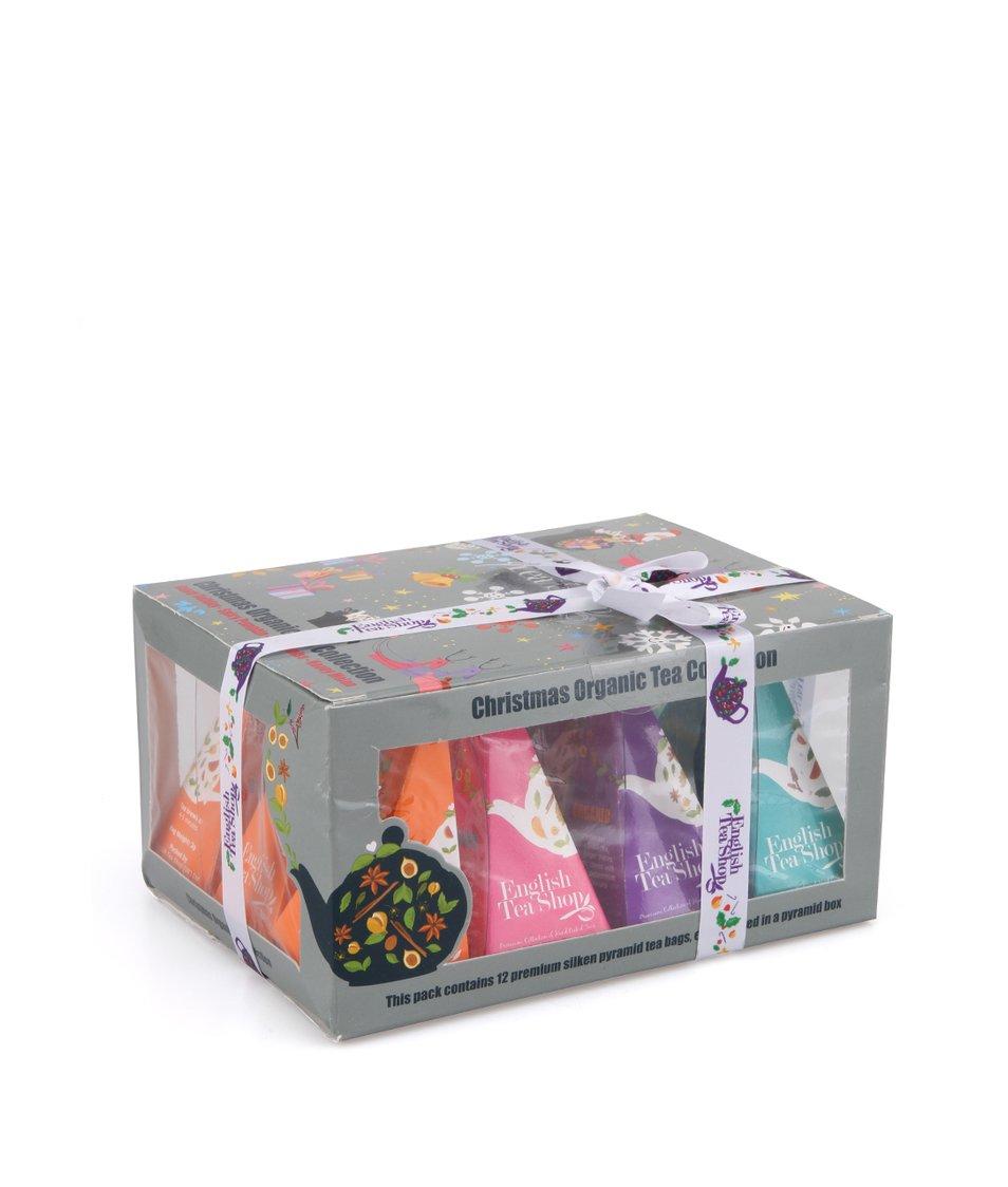 Dárková krabička čajů English Tea Shop Vánoční ozdoby