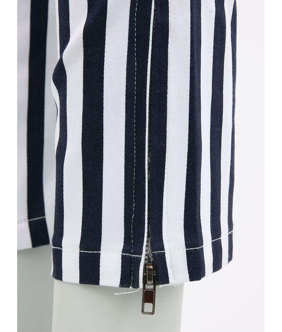 Modro-bílé pruhované džíny Louche Fola