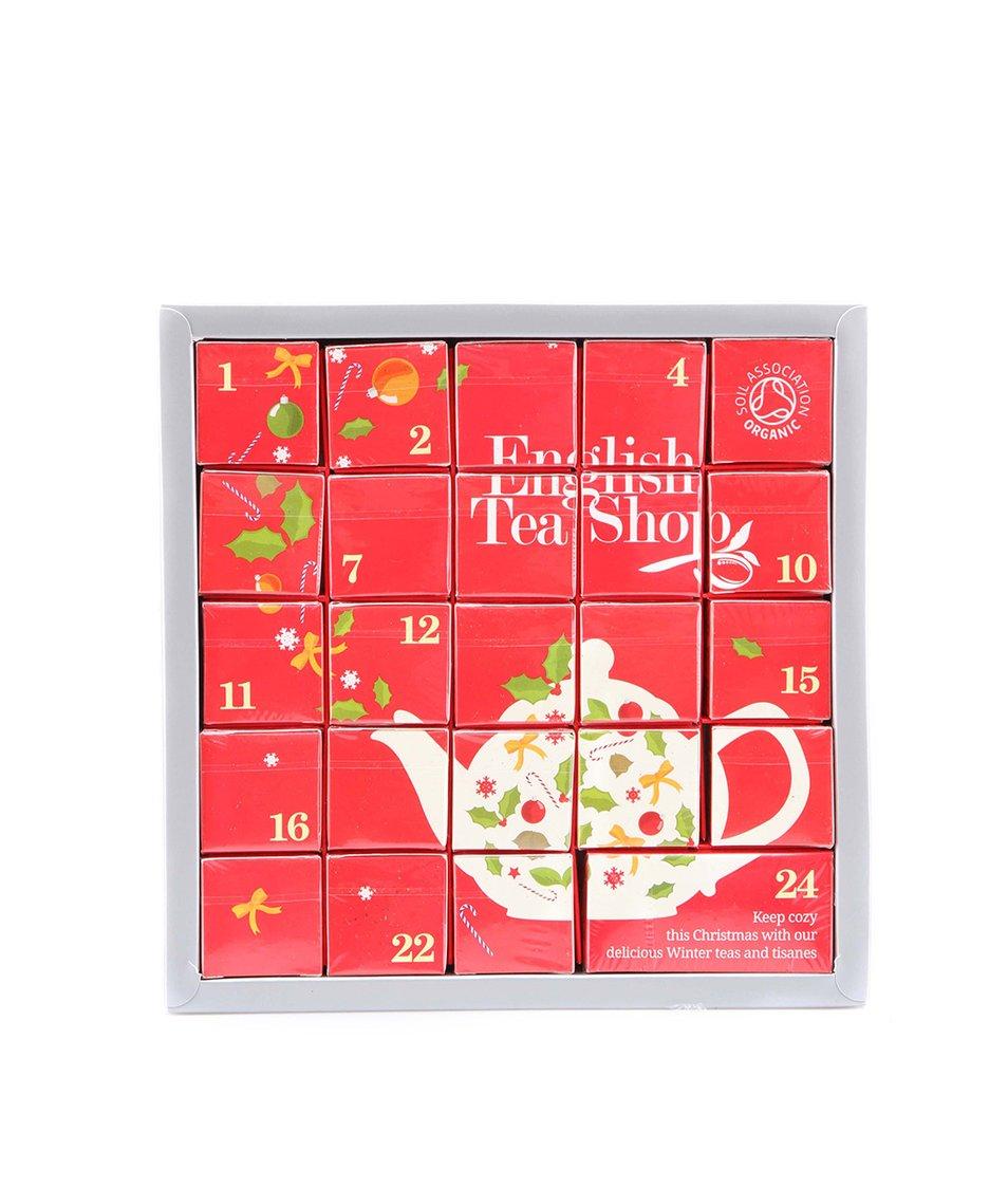 Adventní kalendář English Tea Shop Čajová konvička s bio čaji