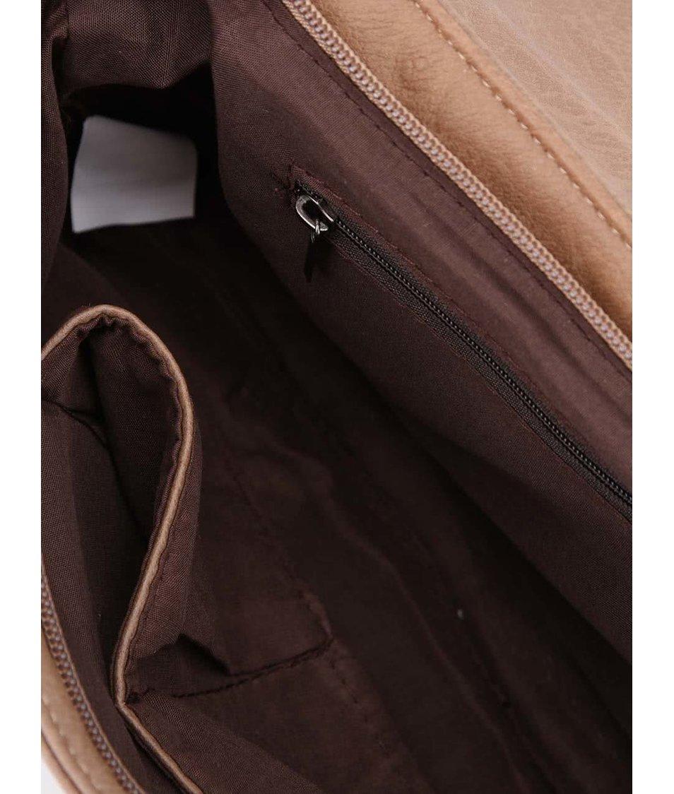 Béžová kabelka přes rameno Tantrend