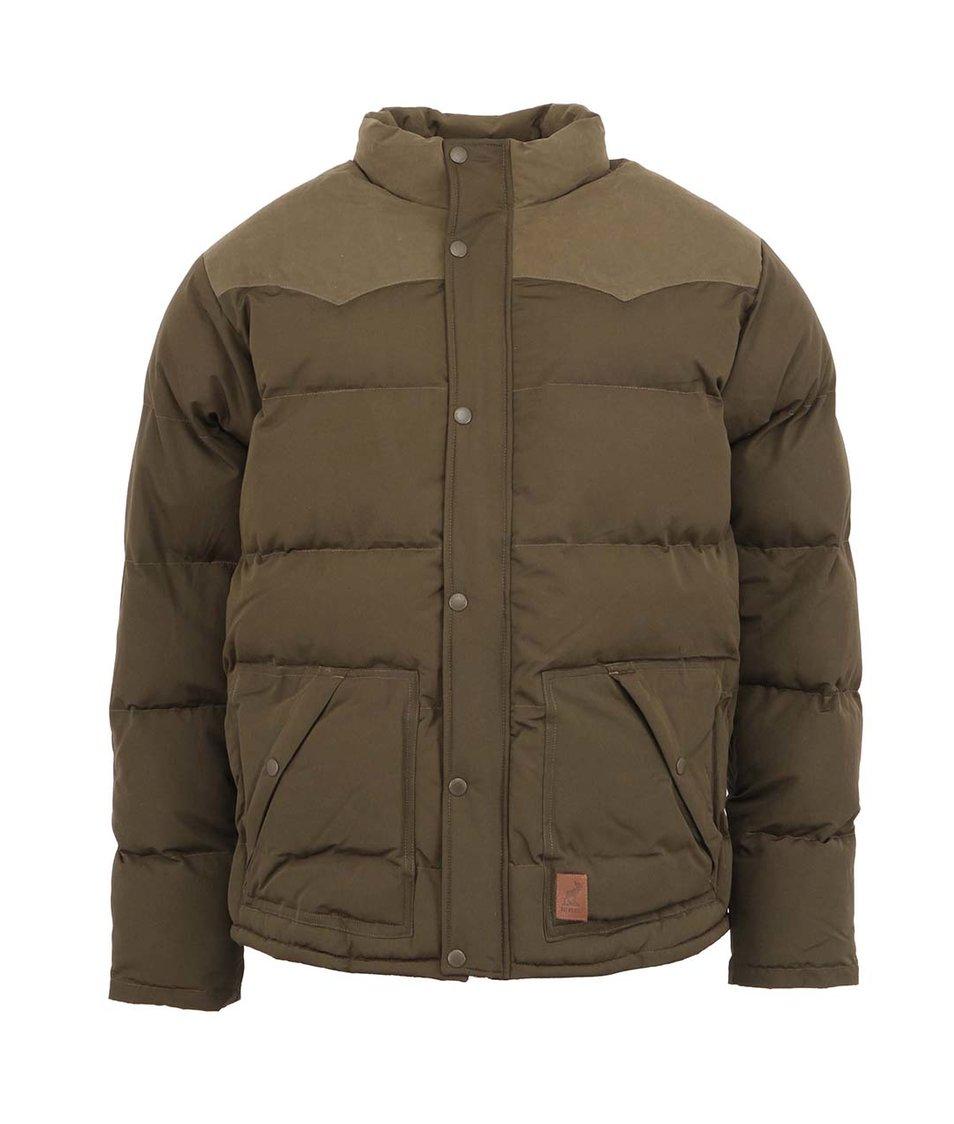 Khaki zimní bunda Fat Moose Canada
