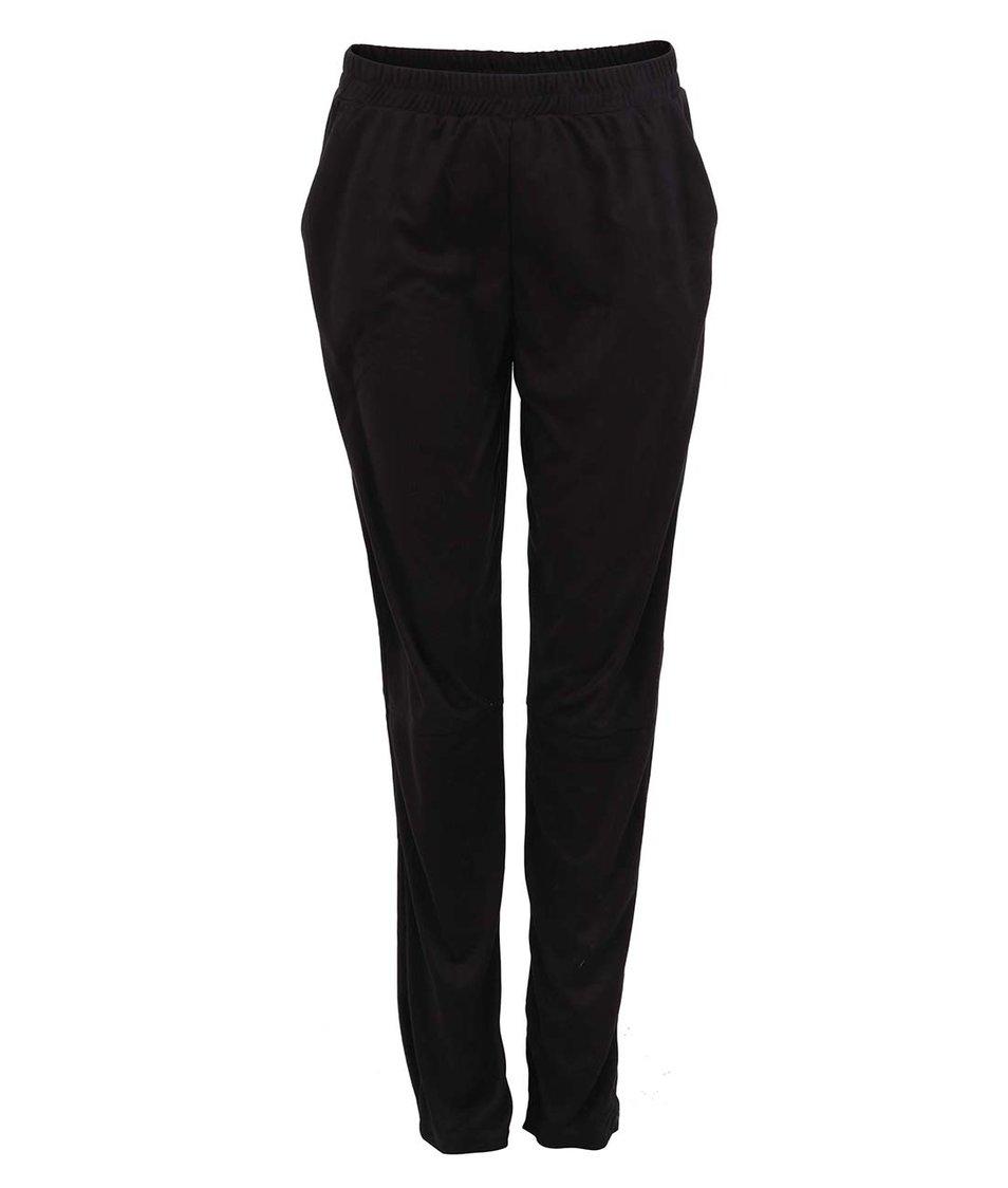 Černé volnější kalhoty Vero Moda Suede
