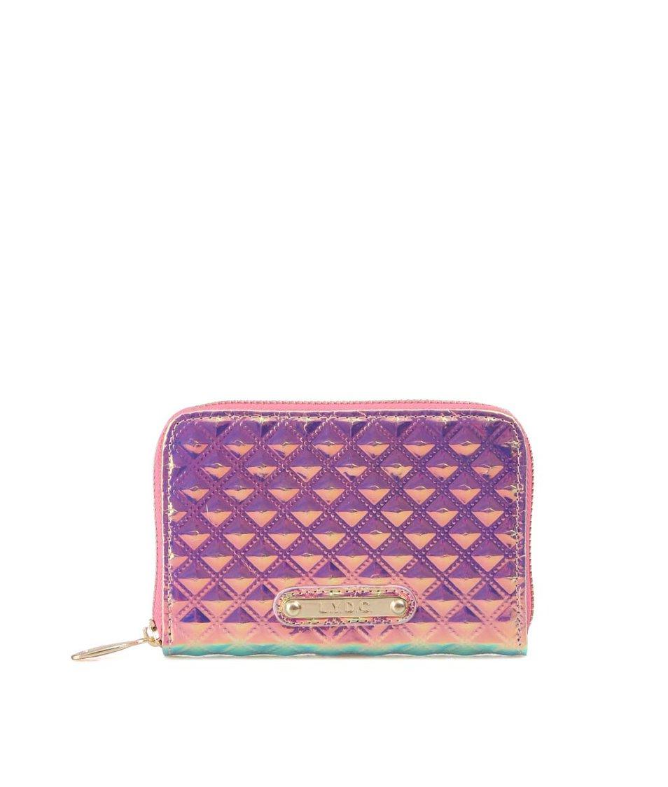 Růžová holografická peněženka LYDC