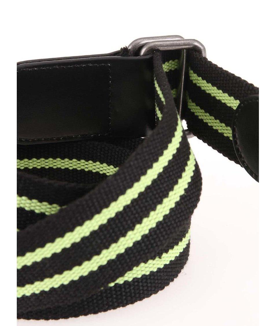 Černý pásek se zelenými pruhy D-Struct Tres