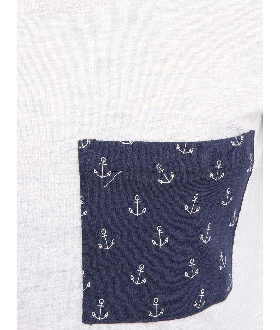 Béžové dámské dlouhé triko Brakeburn Anchor