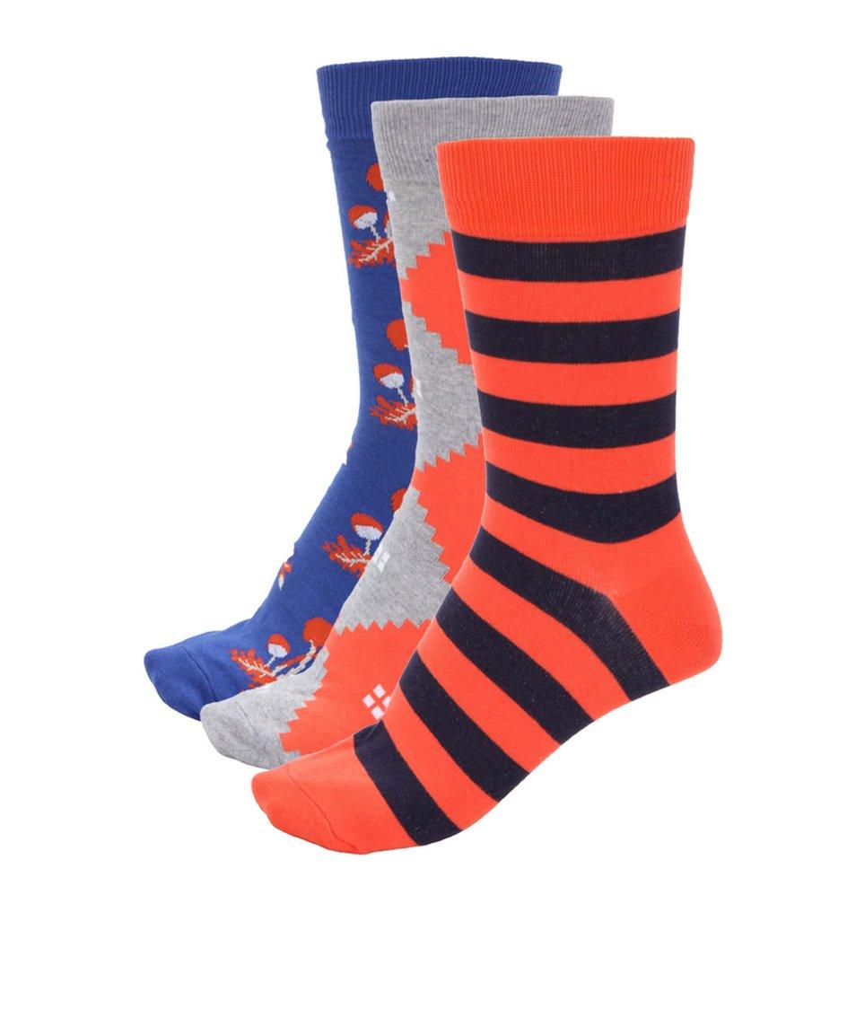 Dárkové balení tří párů pánských ponožek Richer Poorer