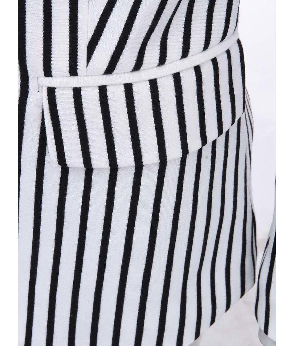 Černo-bílý pruhovaný blejzr Vero Moda Jana