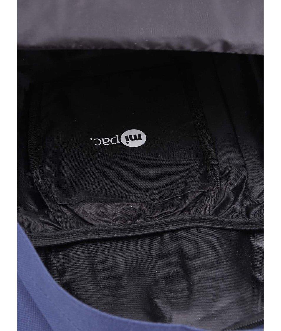 Tmavě modrý unisex batoh s puntíky Mi-Pac Polka