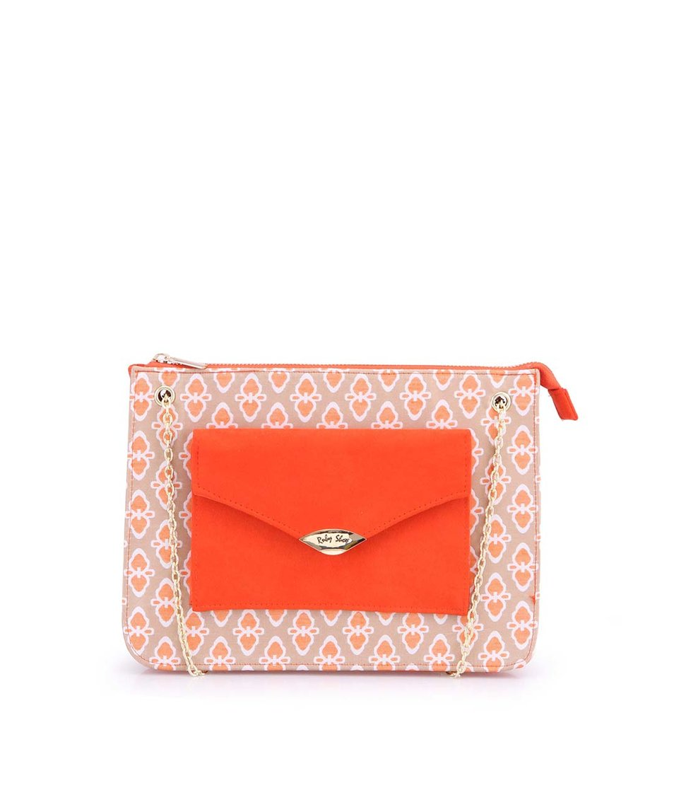 Oranžová vzorovaná kabelka Ruby Shoo New York