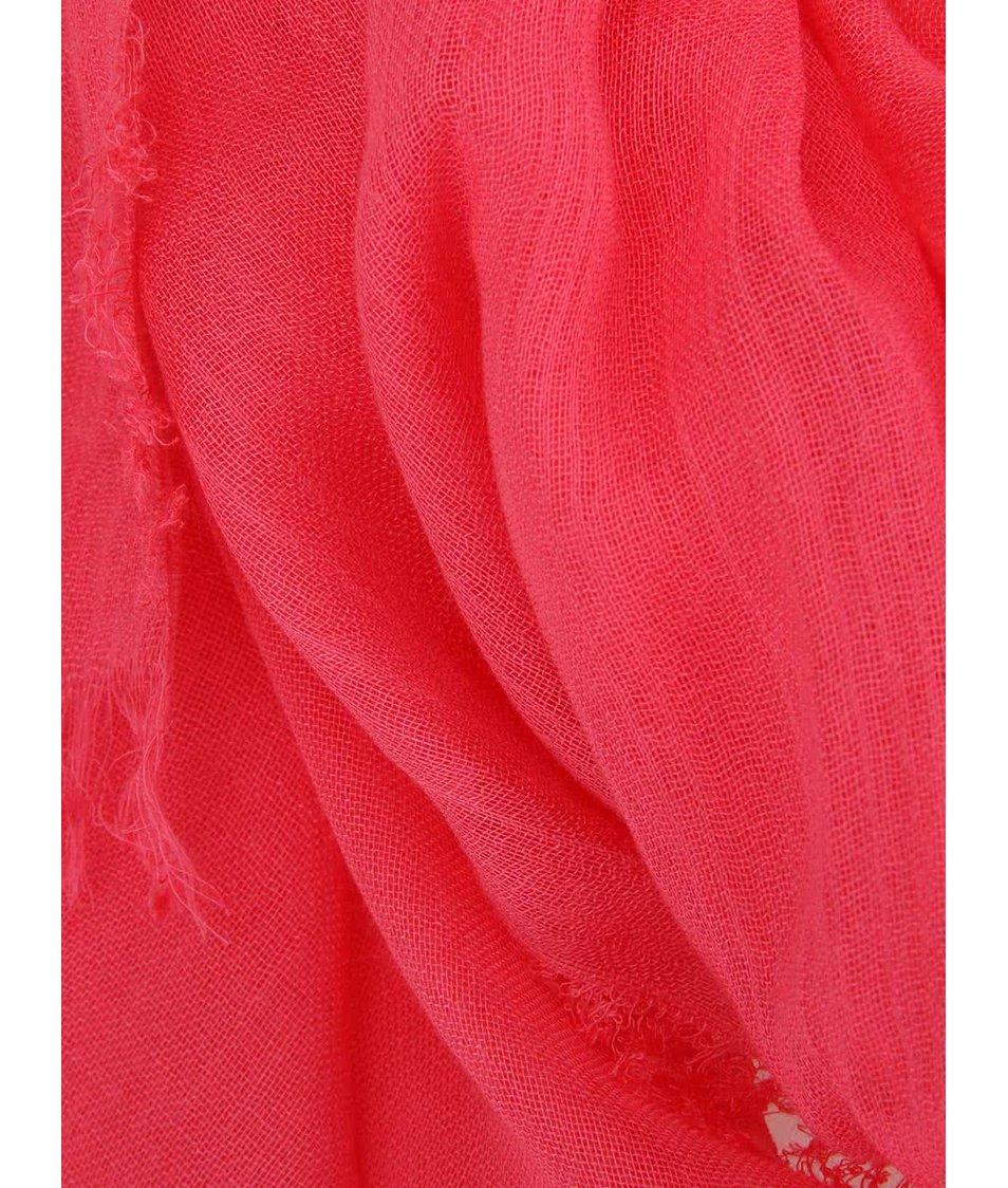 Malinově růžový šátek INVUU London