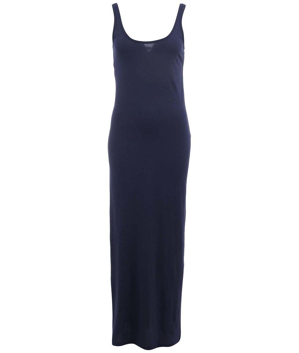 Tmavě modré dlouhé šaty Vero Moda Nanna