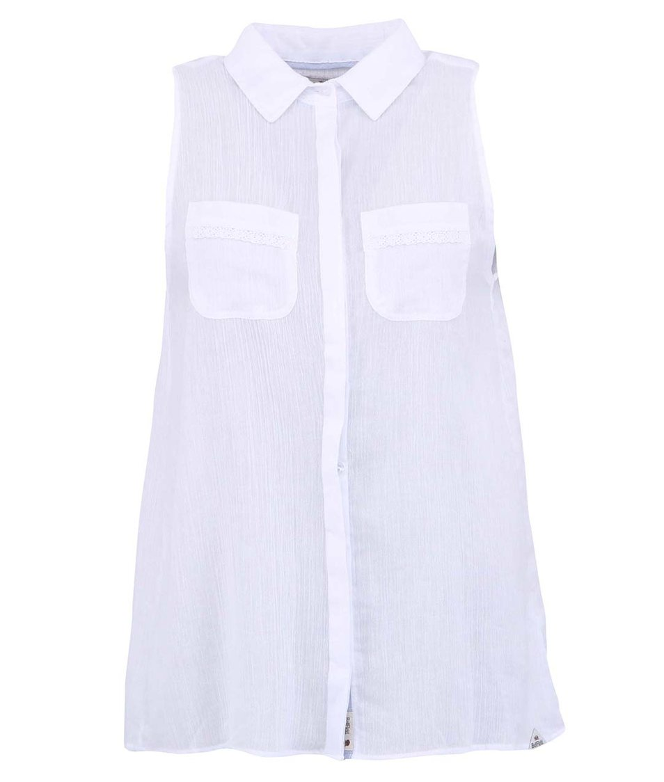 Bílá dámská košile s rozparkem na zádech Bellfield Josie