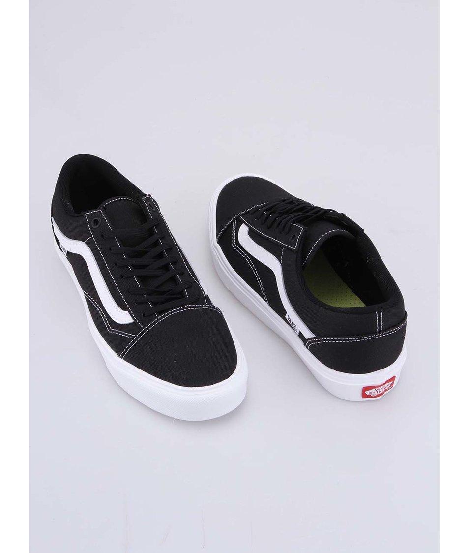 Černé pánské tenisky s bílým pruhem Vans Old Skool