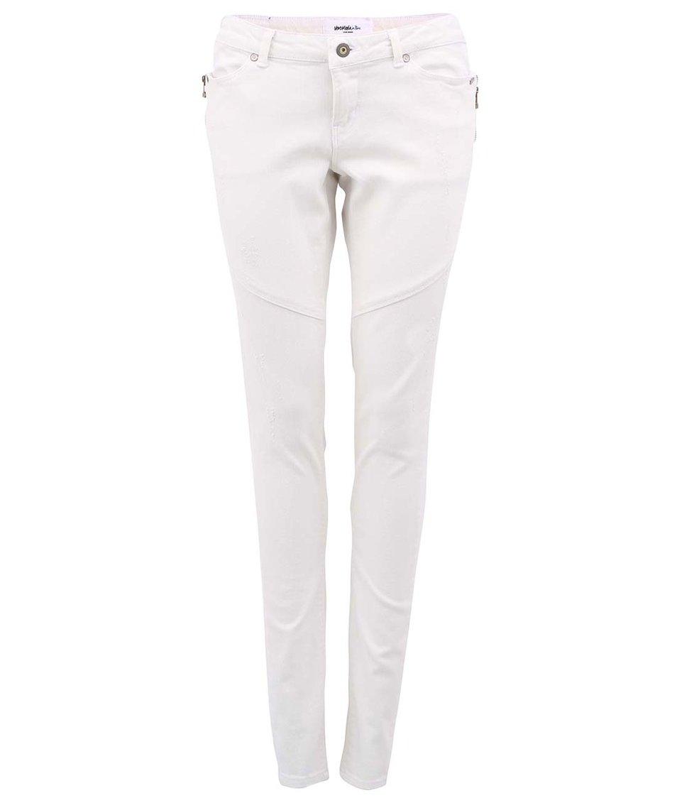 Krémově bílé slim džíny Vero Moda Flashy