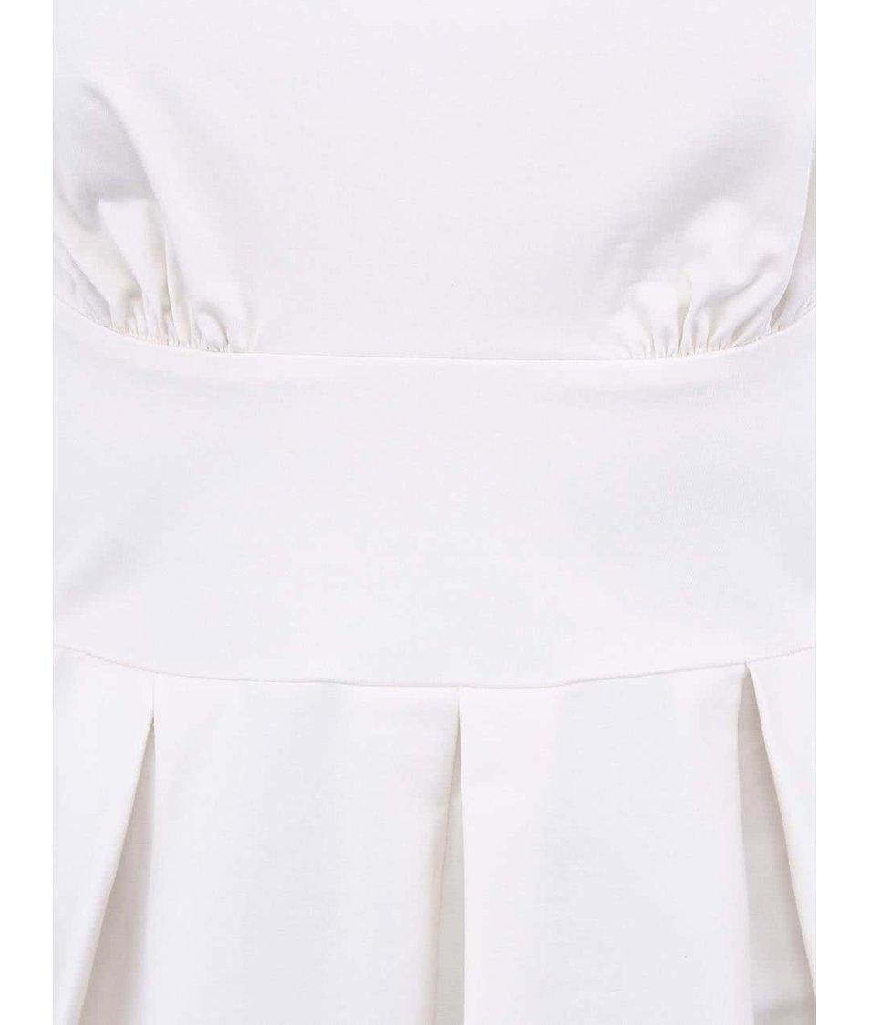 Krémové šaty s výstřihem na zádech Closet