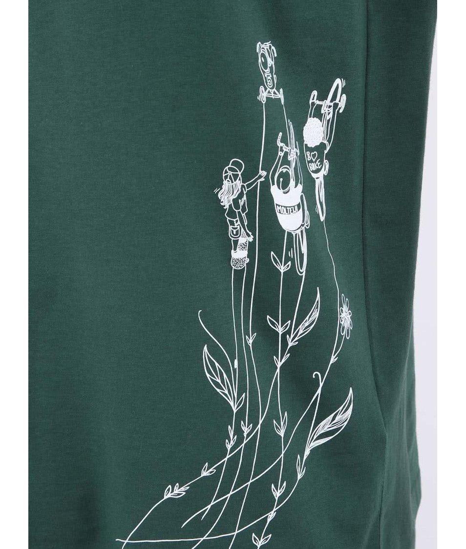 """""""Dobré"""" zelené pánské triko s potiskem pro Auto*Mat"""